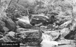 Beddgelert, The Bridge, Snowdonia National Forest Park c.1960
