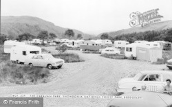 Beddgelert, The Caravan Park, Snowdonia National Forest Park c.1965