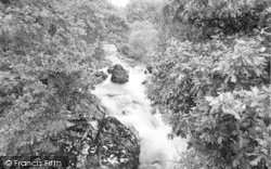 Beddgelert, The Gorge, Forest Park c.1955