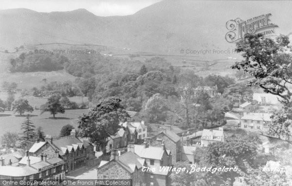 Photo of Beddgelert, The Village c.1935