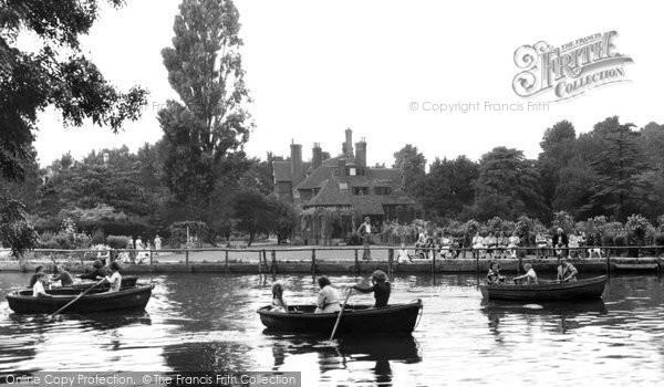 Photo of Beddington, Grange Park, The Boating Lake 1950