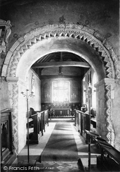 Bedfont, St Mary's Church Interior 1895