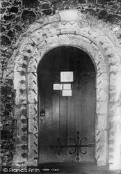 Bedfont, St Mary's Church, Norman Door 1895