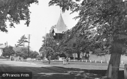 Bedfont, The Green And Church c.1951