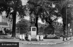 Bedford, Bunyan Memorial And Church Green c.1955