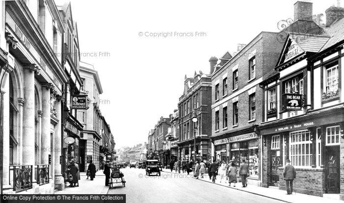 Bedford, High Street 1929