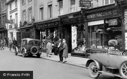 Bedford, Shops In The High Street 1929
