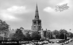 Bedford, St Paul's Church c.1960