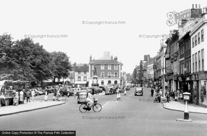 Bedford, St Paul's Square c.1955