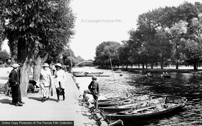 Bedford, The Promenade And River Ouse 1921