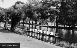 Bedford, The River Ouse, Eight c.1955
