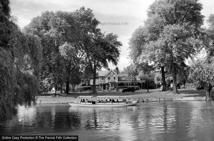 Bedford, The River Ouse From Mill Meadows c.1955