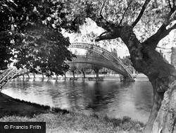 Bedford, The Suspension Bridge 1929