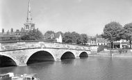 Bedford, Town Bridge c.1955