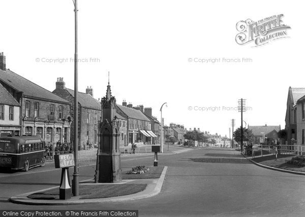 Photo of Bedlington, Front Street West  c.1955