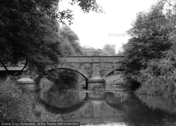 Photo of Bedlington, Hartford Hall And Bridge c.1960