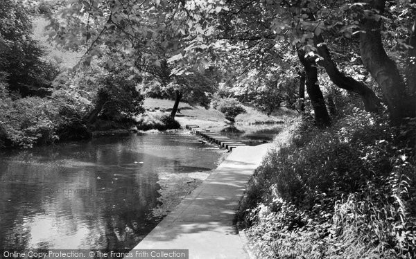 Photo of Bedlington, Humford Mill stepping stones c1960, ref. B551030