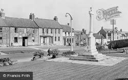 Bedlington, The War Memorial And Front Street West c.1955