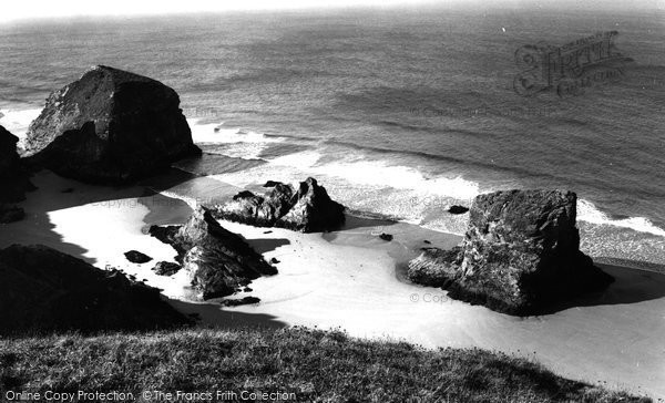 Bedruthan Steps, c.1955