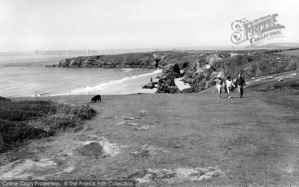 Bedruthan Steps, Cliff Walk c.1955