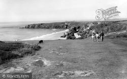 Bedruthan Steps, Cliff Walk c.1955