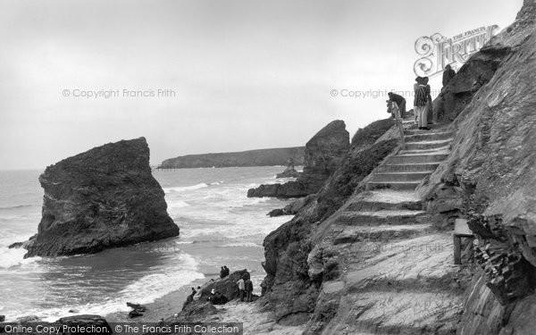 Bedruthan Steps, Old Steps 1935