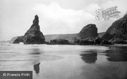 Bedruthan Steps, Queen Bess Rock 1914