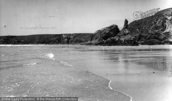 Bedruthan Steps, Queen Bess Rock c.1955
