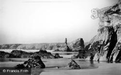 Bedruthan Steps, The Beach c.1955