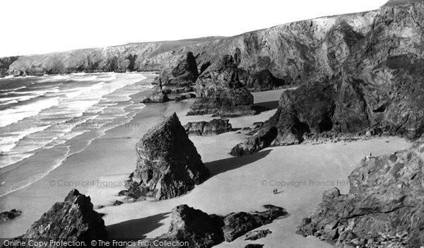 Bedruthan Steps, The Coast c.1955