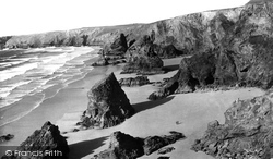 Bedruthan Steps, The Coast c.1955