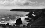 Bedruthan Steps, Tide In c.1955