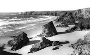 Bedruthan Steps, Tide Out c.1955