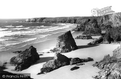 Bedruthan Steps, Tide Out c.1955