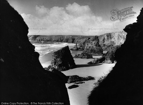 Bedruthan Steps, View Of The Beach c.1955