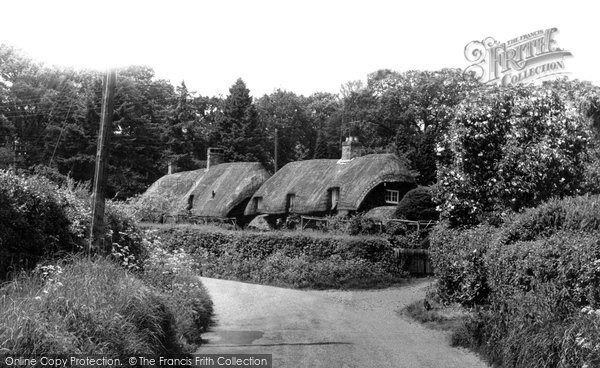 Beech, Thatched Cottages c1960