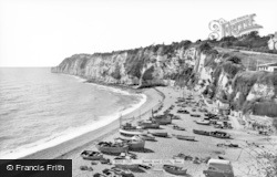 Beer, Beach And Cliffs c.1965