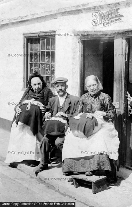 Beer, Lace Workers And Their Apprentice c.1900