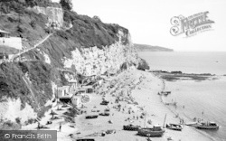 Beer, White Cliff And Beach c.1965