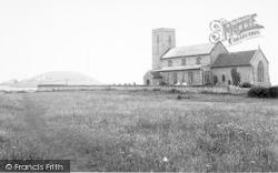 Beeston Regis, All Saints Church And Bump c.1955