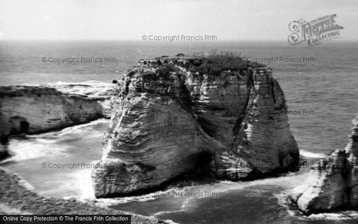 Photo of Beirut, Pigeon Rock 1965