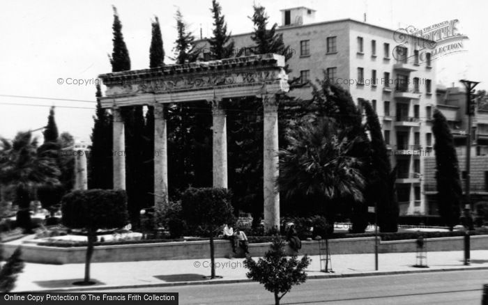 Photo of Beirut, Roman Columns Outside The National Museum 1965