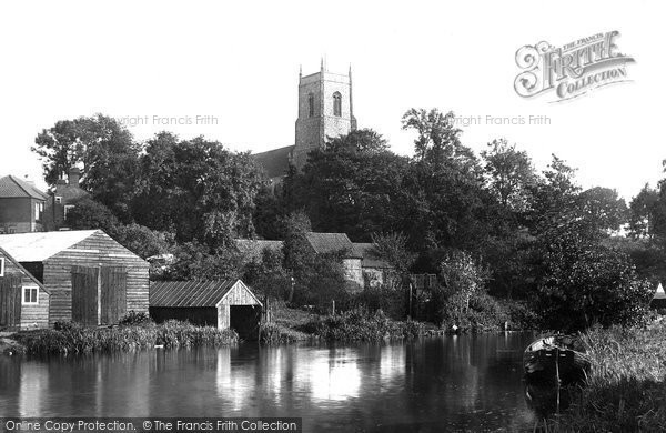 Belaugh, St Peter's Church From The River Bure 1921