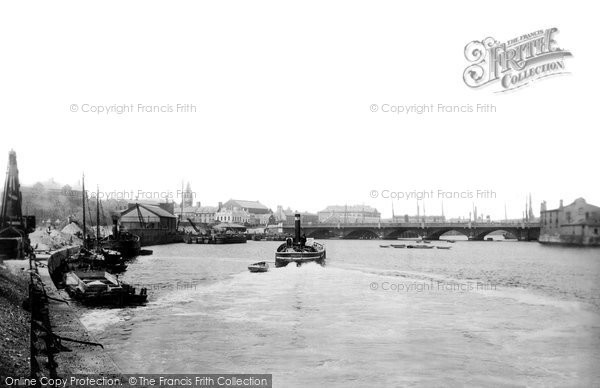 Photo of Belfast, Canal Wharf And Queen's Bridge 1897