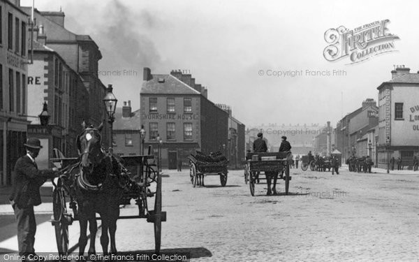 Photo of Belfast, Cart In Corporation Square 1897