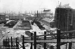 Belfast, Harland & Wolff's Shipbuilding Yard c.1910