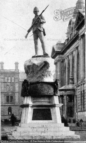Photo of Belfast, Memorial To Royal Irish Rifles c.1910