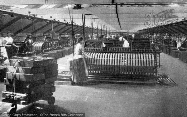 Photo of Belfast, Reeling Room, Ewart & Sons Linen Factory c 1910