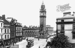 Belfast, The Albert Memorial And Clock Tower 1897