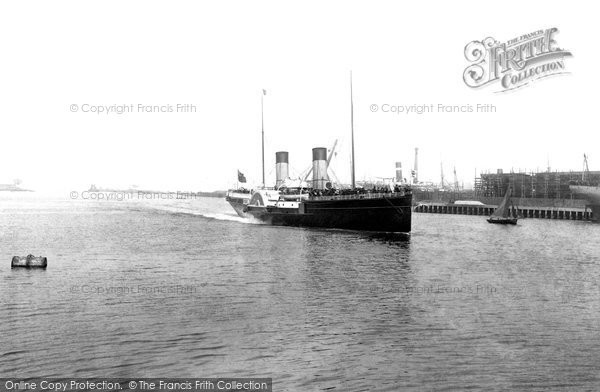 Photo of Belfast, The Glasgow Boat, Royal Mail Steamer 'adder' 1897